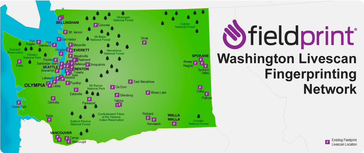 Washington Livescan locations
